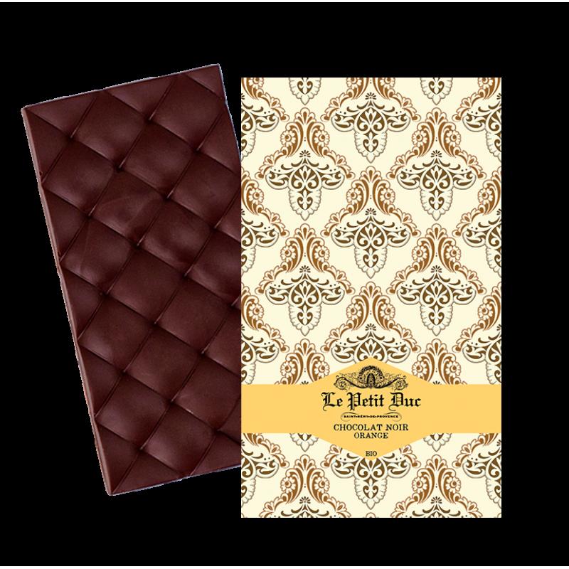 Tablette de Chocolat Noir et Orange