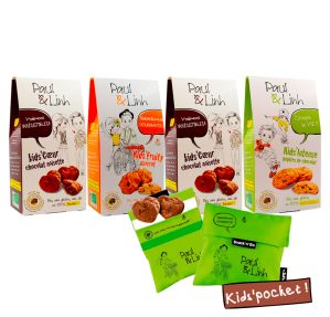 Lot Biscuits Kids bio 3+2 offerts